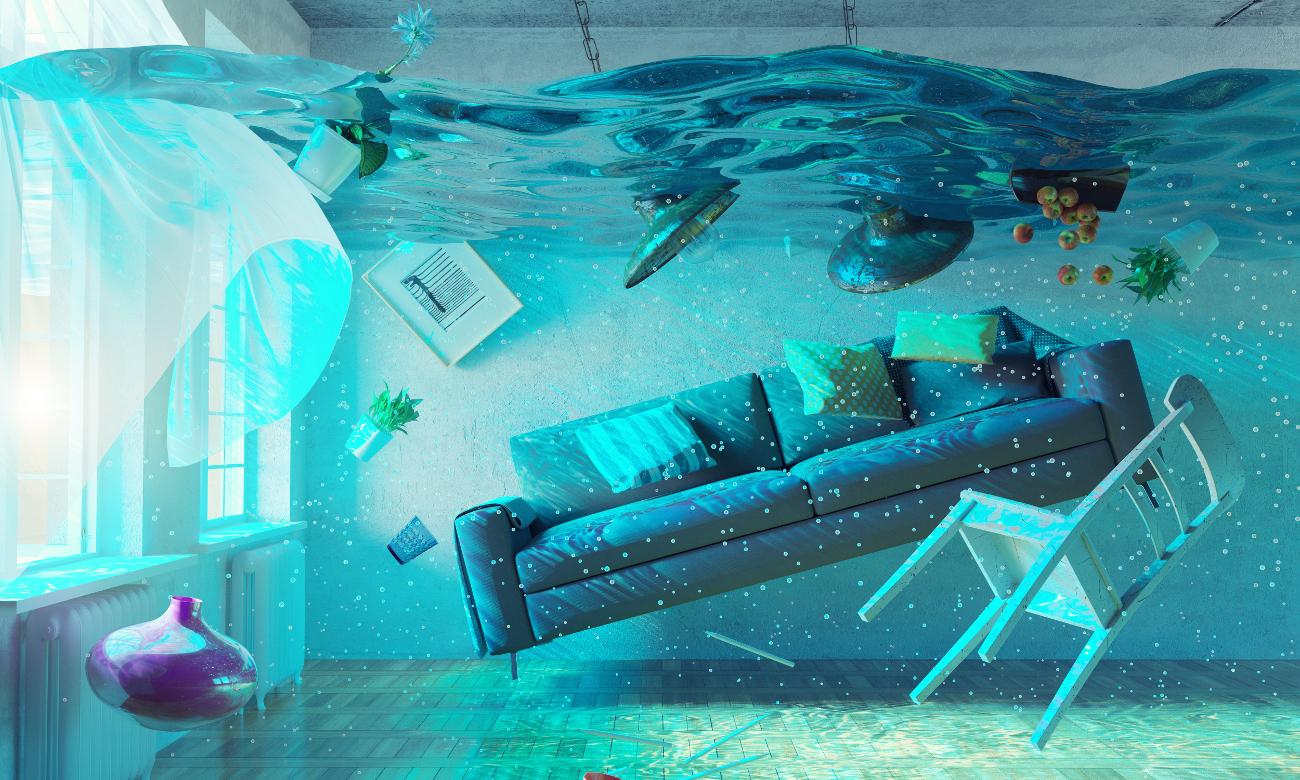 Как проходит экспертиза мебели, залитой водой